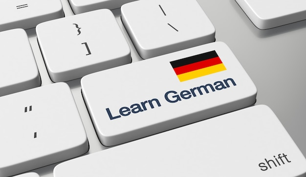 Imparare il tedesco in linea Foto Premium