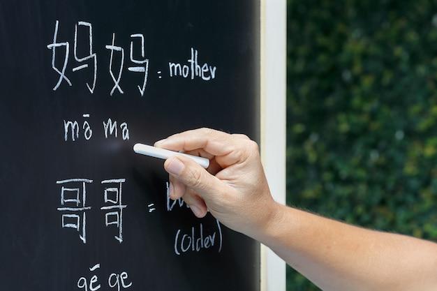 Imparare l'alfabeto cinese in classe