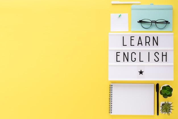 Imparare l'inglese, concetto di educazione. corsi di inglese.