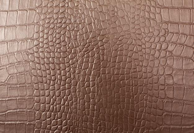 Pelle con fondo in pelle di coccodrillo