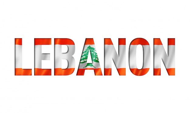 Carattere di testo bandiera libano