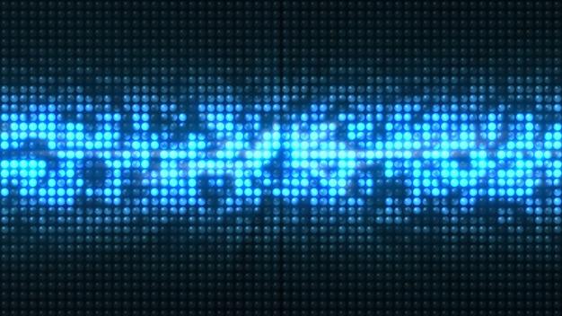 I led blu lampeggiano