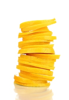 Fine del limone in su isolata su bianco