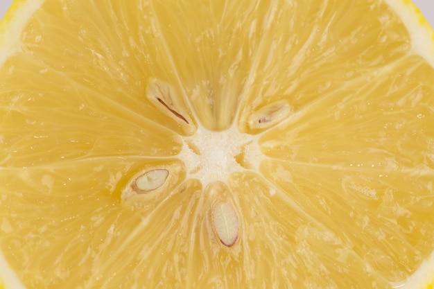Foto macro di limone