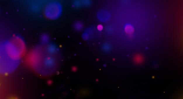 Riflesso lente particelle sfondo astratto