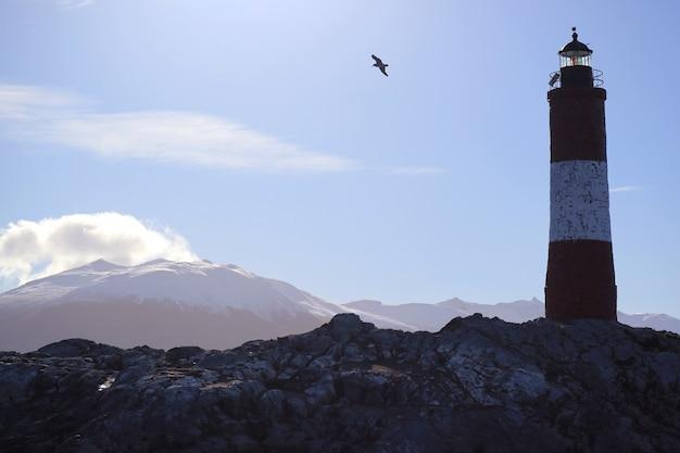 Faro di les eclaireurs nel canale di beagle ushuaia tierra del fuego patagonia argentina