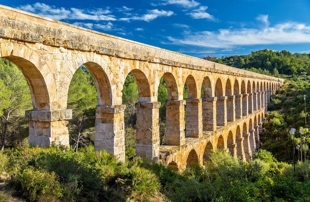 Acquedotto les ferreres, noto anche come pont del diable vicino a tarragona in spagna