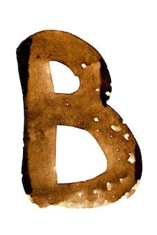 Lettera b - alfabeto nel caffè