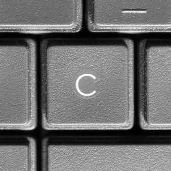 Lettera c sulla tastiera del computer