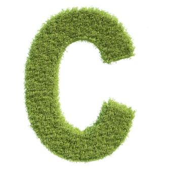 Lettera dell'erba, isolato, sfondo bianco