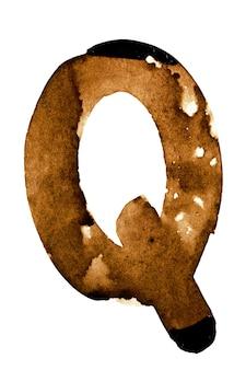 Lettera q - alfabeto nel caffè