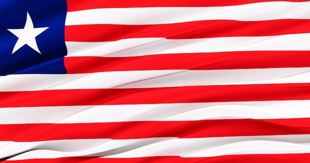 Bandiera della liberia per il memorial day, liberia waving flag, independence day.