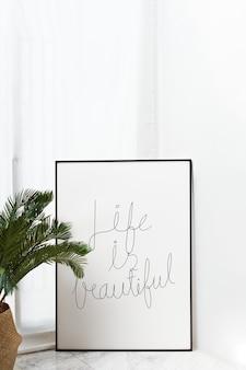 La vita è una bella cornice mockup