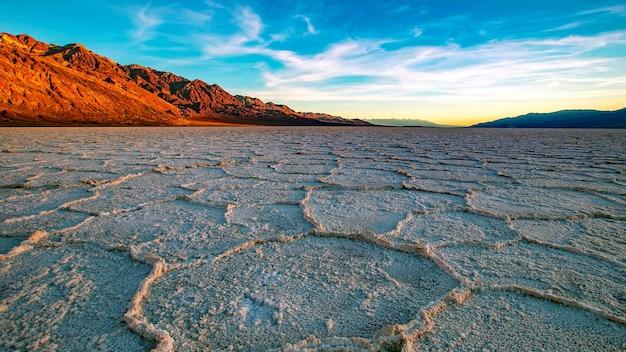 Deserto di sale senza vita