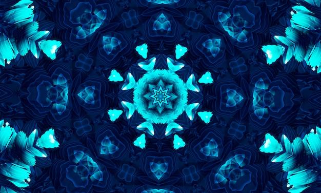 Sfondo tecnologico azzurro con sistema di connessione dati digitali hi-tech e design elettronico del computer. tecno caleidoscopio.