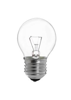 Lampadina bagliore-lampada isolata sulla superficie bianca