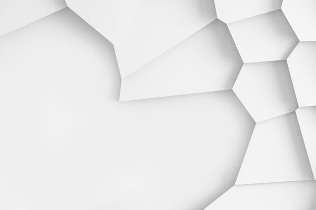 Struttura digitale leggera dei blocchi di dimensioni differenti delle forme differenti che torreggiano l'una sopra l'altra, gettando l'illustrazione delle ombre 3d