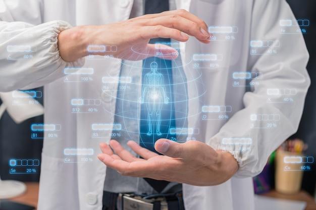 Schermo medico leggero che scansiona il corpo umano