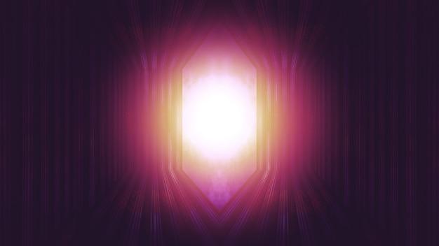 Luce alla fine della porta del paradiso, speranza al di fuori del cancello del cielo
