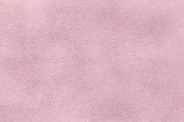 Sfondo opaco viola chiaro di feltro scamosciato, primo piano. trama di velluto di tessuto lilla senza soluzione di continuità, macro.