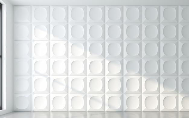 Luce e ombra del telaio della finestra con pannello a parete 3d. rendering 3d