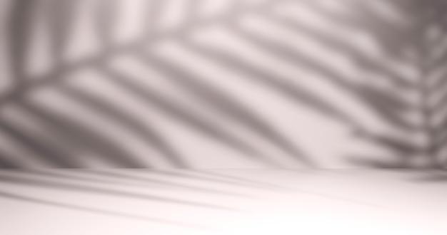 Sfondo studio chiaro per la presentazione con ombre naturali. rendering 3d