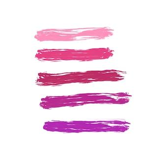 Macchie di rossetto su sfondo bianco
