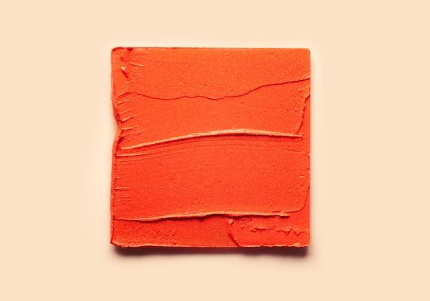 Rossetto macchia quadrato nudo marrone texture di sfondo