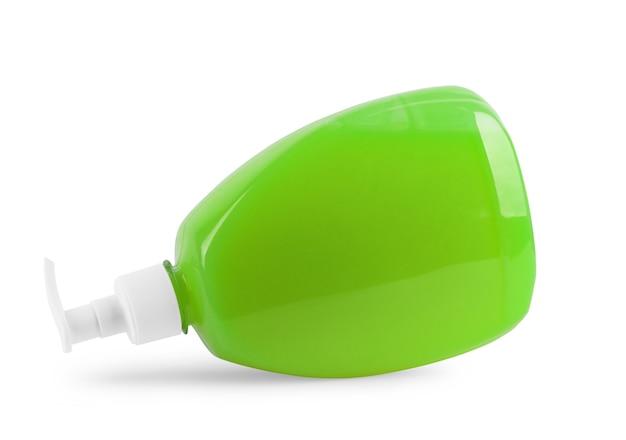 Sapone liquido con dispenser su sfondo bianco