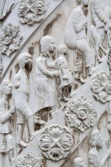 Dettaglio del punto di riferimento del monumento di discoveries del mare della città di lisbona