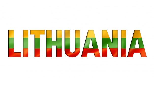 Carattere di testo bandiera lituana