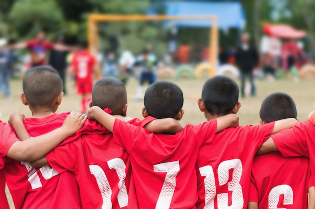 Squadra di calcio di calcio del ragazzino