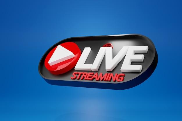 Streaming live per la vendita di prodotti sui social media. concetto di acquisto online, rendering 3d