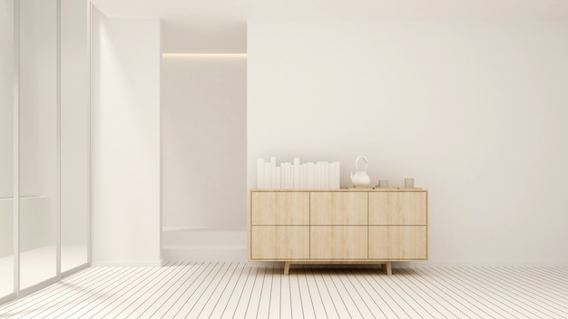 Zona giorno in tono bianco in casa o appartamento