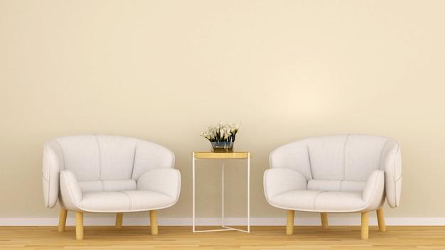 Soggiorno nella caffetteria o lounge - rendering 3d