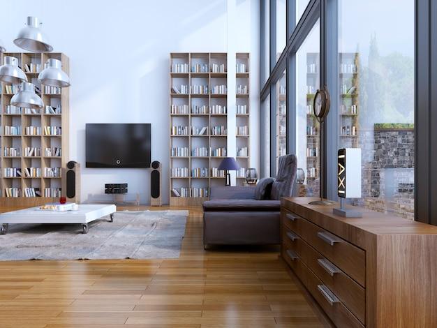 Soggiorno in stile moderno e zona giorno contemporanea con mobili di design.