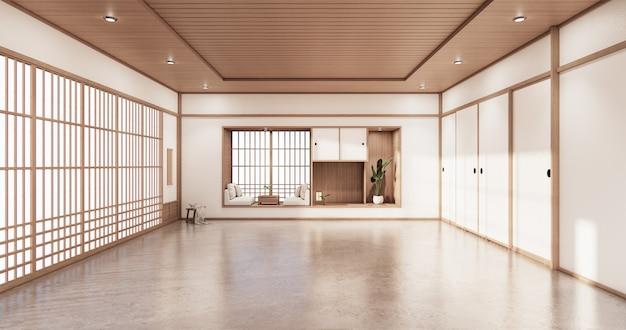 Mensola soggiorno design in camera dal design minimal in stile giapponese