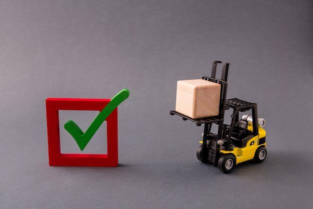 Caricatore che consegna portando la casella di controllo dell'esportazione della fornitura del cubo sì risposta
