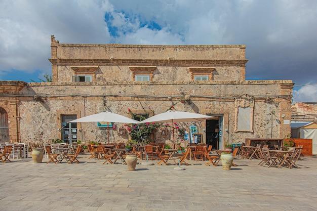 Località di pescatori a marzamemi. sicilia.