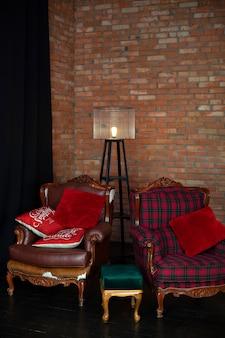 Stile loft in soggiorno