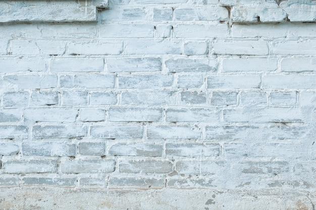 Muro di mattoni bianco e grigio in stile vintage loft. sfondo del concetto di trama