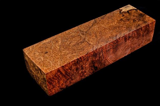 Registri di arricciato in legno di radica di mirto bellissimo modello per artigianato a sfondo nero, asian satinwood, può tabak