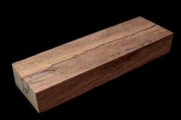 Registri di legno di mirto arricciato bellissimo motivo per artigianato a sfondo nero, asian satinwood, may tabak