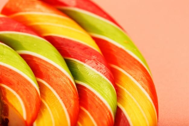 Close-up multicolore di lecca-lecca