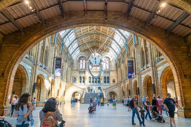 Londra - 4 settembre 2019. la gente visita il museo di storia naturale di londra.