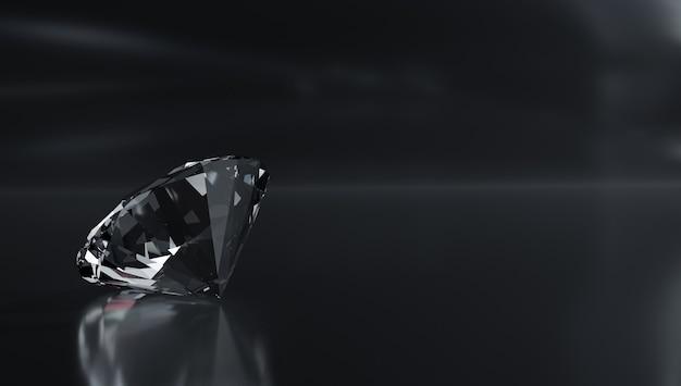 Diamanti sciolti su sfondo bianco Foto Premium