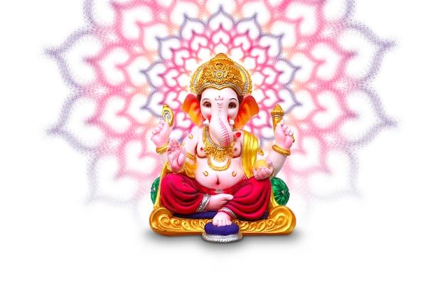 Lord ganesha, festival indiano di ganesha