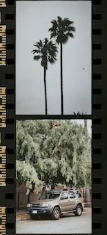 La fotografia di los angeles in una striscia di pellicola