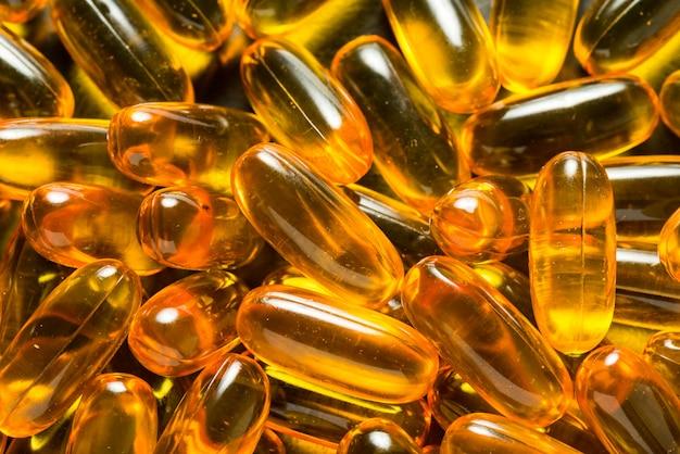 Lotto di omega 3 capsule, trame di sfondo