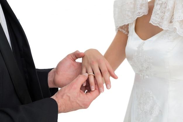 Amare sposo e sposa, lo scambio di fede nuziale